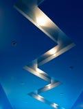 blå interior Arkivbilder