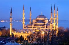 blå istanbul moské Fotografering för Bildbyråer