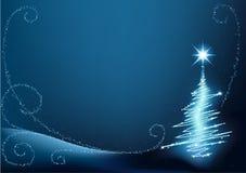 blå jultree Arkivfoton