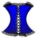 blå korsett Royaltyfri Fotografi