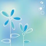 blå korthälsning Royaltyfri Bild