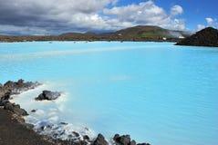 blå lagun Arkivfoto