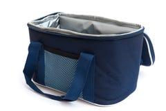 Blå lunchpackebärare Royaltyfria Bilder