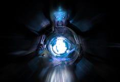 blå mage Arkivbild