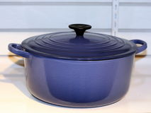 blå matlagningkruka Arkivbild