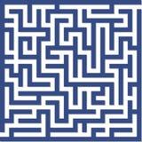 blå maze Arkivfoto