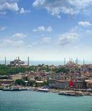 blå moské sofia för aya Arkivfoto