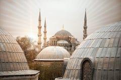 Bl? mosk?sultanahmet Camii, Istanbul, Turkiet royaltyfri foto