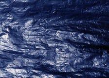 Blå plastpåsetextur Arkivbilder