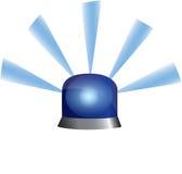 blå polis för exponerande lampa för nödläge Arkivfoto