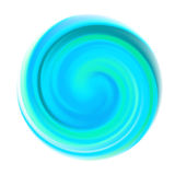 Blå rundaspiralform Arkivbild