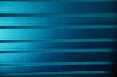 Blå skinande järnplatta Royaltyfri Fotografi