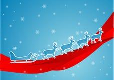 blå sleigh Royaltyfri Fotografi