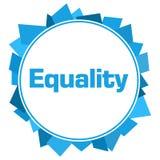 Blå slumpmässig formcirkel för jämställdhet Arkivfoton