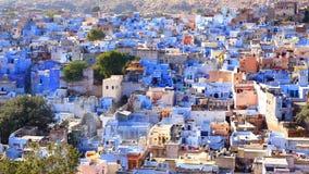 blå stadsindia jodhpur sikt Arkivbild
