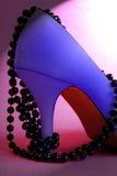 blå stilettsylish Arkivfoton
