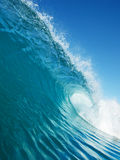 blå surfa wave Royaltyfri Bild