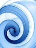 blå swirl Arkivbilder