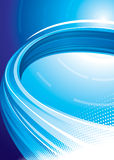 blå teknologi Arkivbild
