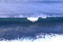 Bl?tt fl?shurtigt hav V?gorna av havformen mycket vitt skum royaltyfri bild
