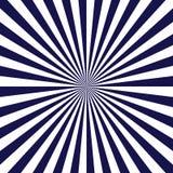 Bl?tt rays affischen popul?r bakgrund f?r str?lstj?rnabristning Mörkblå och vit abstrakt textur med sunbursten, signalljus, strål stock illustrationer