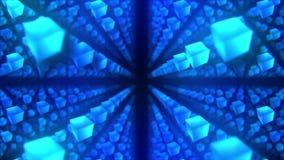 Bl?ttkuber p? svart bakgrund Anslutningen av kuber 3d med geometriskt polygonal ?glasanimering cyberspace Aff?rssymbol vektor illustrationer