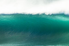 Blå vägg för våg Fotografering för Bildbyråer