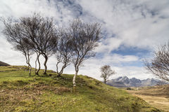 Bla Beinn view from Cill Chriosd on the Isle of Skye. Stock Image