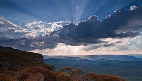Blåa berg nationalpark, Sydney Arkivbild