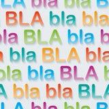 Bla-bla-bla walpaper. Stock Photos
