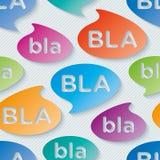 Bla-bla-bla walpaper. Royalty Free Stock Image