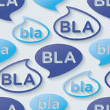 Bla-bla-bla walpaper. Royalty Free Stock Images