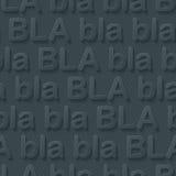 Bla-bla-bla walpaper. Stock Photo
