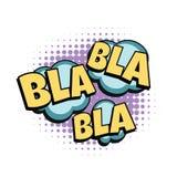 Bla grappig woord vector illustratie