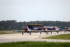 Blåa änglar på landningsbana Royaltyfria Bilder