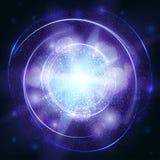 Blåa och violetta ljus Arkivbild