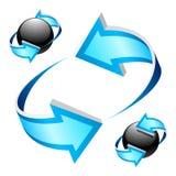 blåa pilar Royaltyfri Foto