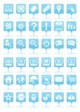 Blåa rengöringsduksymboler Royaltyfri Foto