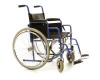 Blåa rullstolblått Arkivbilder