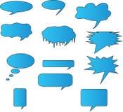 Blåa samtalbubblor Royaltyfri Bild