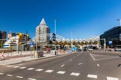Blaak广场和办公楼的外视图 库存照片