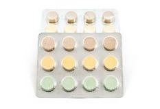 Blaar met drugs en pillen Stock Foto