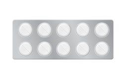 Blaar met pillen, tabletten Stock Foto