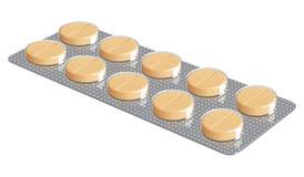 Blaar met tabletten Royalty-vrije Stock Fotografie