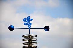 Blaasinstrumentwind of windwijzer of weerhaan Stock Afbeeldingen
