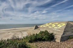 Blaavand beach at the Danish North Sea coast Royalty Free Stock Photography