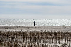 Blaavand beach at the Danish North Sea coast Stock Photos