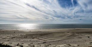 Blaavand beach at the Danish North Sea coast Stock Images
