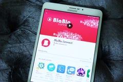 BlaBla verbindt mobiele app Stock Fotografie