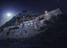 Blaca偏僻寺院 库存图片